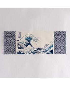 Tenugui Namiura di Hokusai